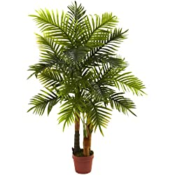 Nearly Natural 5424 Real Touch Areca Palm Tree, 4-Feet, Green