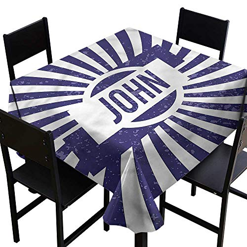 John Resistant Table Cover Common Masculine Name High-end Durable Creative Home 54 x 54 Inch]()