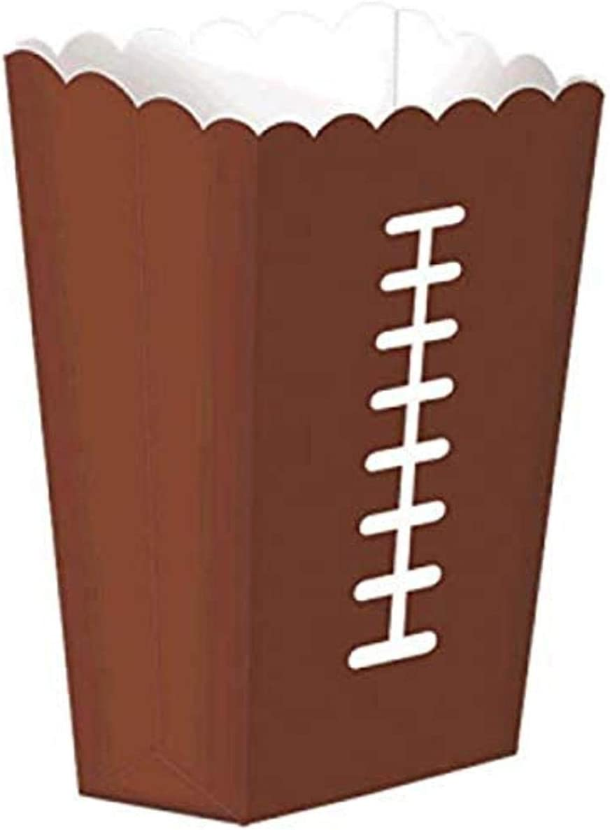Amscan Football Party Large Snack Box, 8 pieces