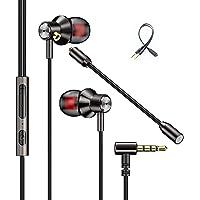 Yabely Audífonos Gaming InEar, In-Ear Headphones con micrófono Dual Desmontable,Auriculares Juego con Cable,para Juegos…