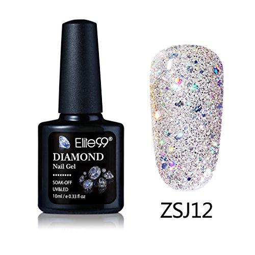 Elite99 3D Soak Off UV LED Diamond Gel Nail Polish Shiny Man