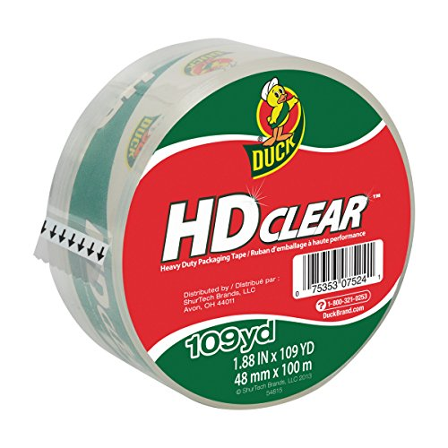 Packing Carton (Duck HD Clear Heavy Duty Packaging Tape Refill, 1.88 Inch x 109 Yard, 1 Roll (1017704))