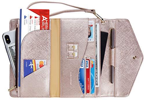 - Travelambo Rfid Blocking Passport Holder Wallet & Travel Wallet Envelope Various Colors (SL Rose gold)