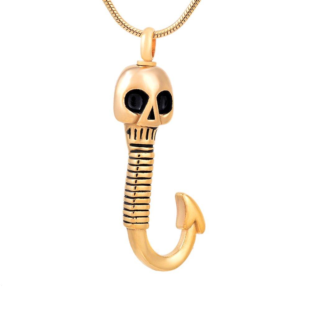 constantlife Classic Skelton /& Hook Cremation Ashes Keepsake Necklace Rembrance Ash Holder Lockets for Ashes