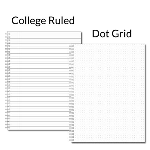 "She Believed Personalized Notebook/Journal, Laminated Soft Cover, 120 College Ruled or Dot Grid pages, lay flat wire-o spiral. Multiple sizes, 8.5"" x 11"", 5.5"" x 8.5"". Made in the USA Photo #3"