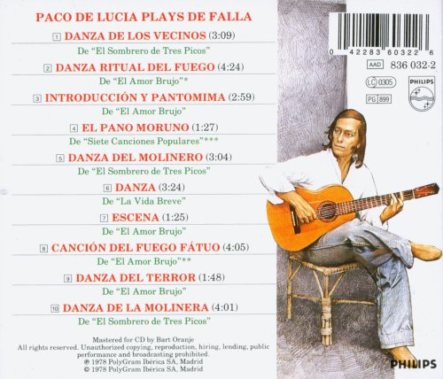 Paco de Lucia plays Manuel de Falla by Philips Import