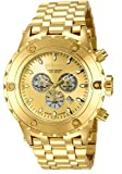 Invicta Men's 14506 Subaqua Reserve Chronograph Gold Dial 18k Gold Ion-Plated Stainless Steel Watch