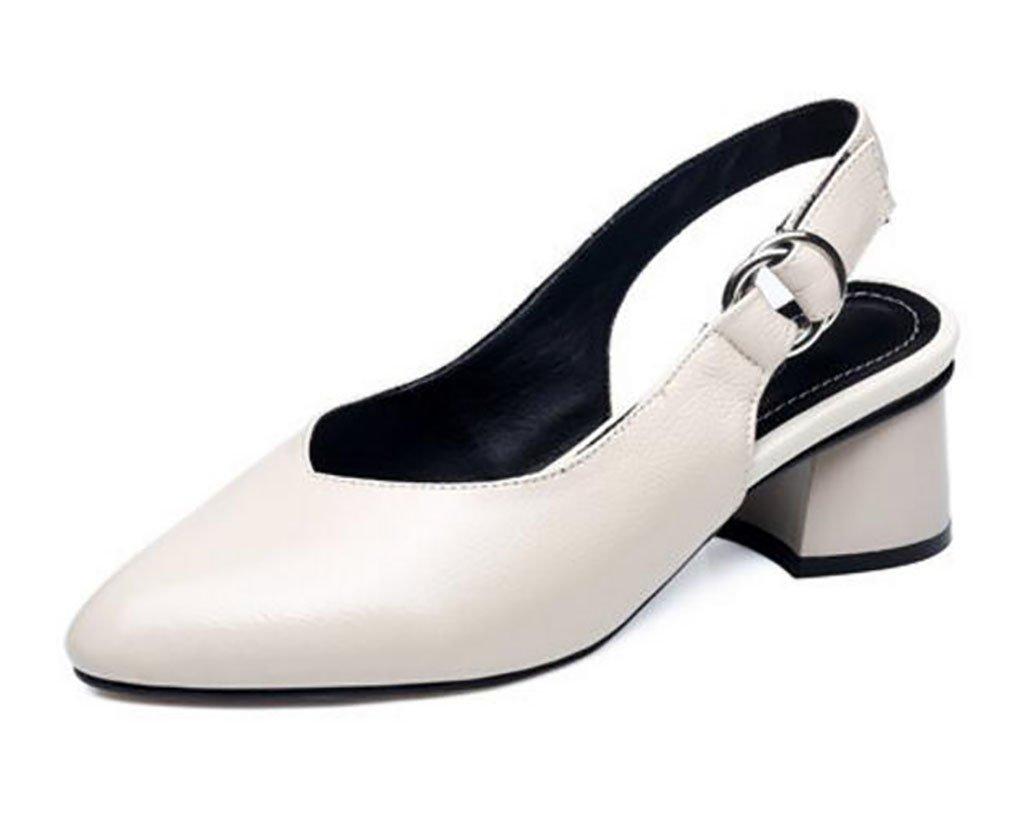B FAFZ Sandales Sandales Sandales à Talons Larges Sandales à Bout Confortable pour Femmes Sandales Mode Sandales Femme Sandales Plates, Sandales de Mode   Chaussons (Couleur   A, Taille   40)  juste pour toi