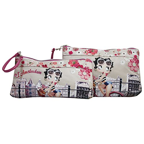 Betty Boop Amsterdam Set Due Astucci Make Up Beauty Case Trucchi