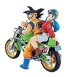 DESKTOP REAL McCOY 05 - Dragon Ball Z: Son Goku & Chichi Complete Scale Figure Character Model Motorcycle MotorBike Green Bike Chi Chi MegaHouse