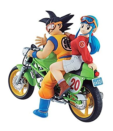 Buy Desktop Real Mccoy 05 Dragon Ball Z Son Goku Chichi Complete Scale Figure Character Model Motorcycle Motorbike Online At Low Prices In India Amazon In