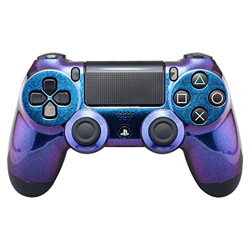eXtremeRate Purple and Blue Chameleon Front Housing Shell Faceplate for Playstation 4 PS4 Slim PS4 Pro Controller (JDM-040)