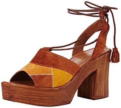 Marco Tozzi Premio 28371 - Sandalias con plataforma Mujer Marrón - Braun (COGNAC COMB 392)