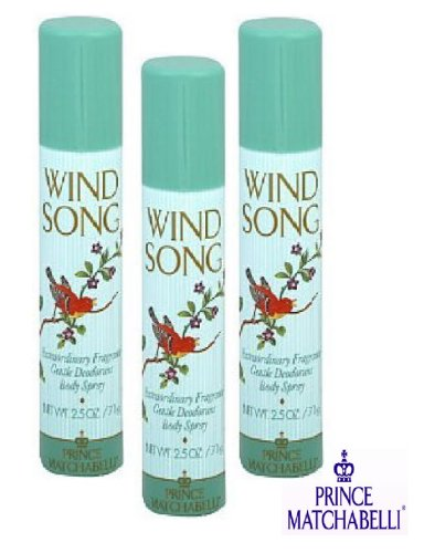 - WIND SONG BODY SPRAY - PACKAGE OF 3