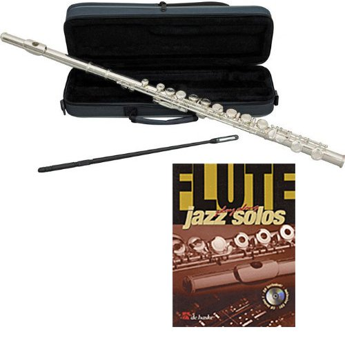 Jazz Solos Flute Pack - Includes Flute w/Case & Accessories & Jazz Solos Play Along Book ()