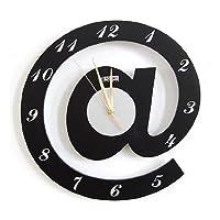 デザイン時計【アットマーク】 インテリア リビング 簡単 設置 取付