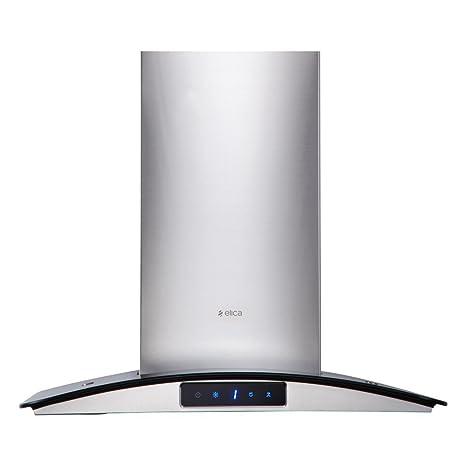 Elica 60 cm 1220 m3/hr Chimney (GLACE TRIM ETB PLUS LTW 60 TC3V LED, 2 Baffle Filters, Touch Control, Steel/Grey)