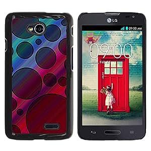 Be Good Phone Accessory // Dura Cáscara cubierta Protectora Caso Carcasa Funda de Protección para LG Optimus L70 / LS620 / D325 / MS323 // Pattern Black Violet Pink Abstract