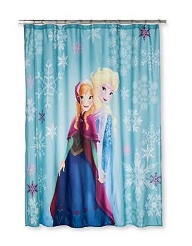 Disney Frozen Shower Curtain With Anna And Elsa Loving Sisters