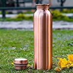 Copper Bottle Collections Pure Copper Bottle for Water 1 Litre Dirt Proof Leak Proof and Joint Less Ayurveda and Yoga…