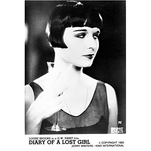Louise Brooks 8 Inch x 10 Inch Photograph Diary of a Lost Girl (1929) Holding Drink kn