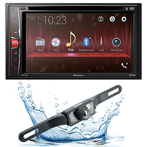 Pioneer AVH-210EX 6.2' 2-Din Bluetooth Touchscreen Multimedia DVD Receiver with HD Backup Camera and Gravity Mobile Phone Holder