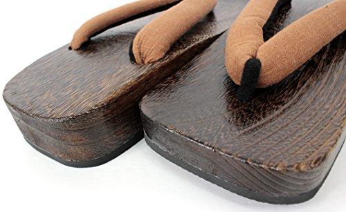 Japanese Mens Flip Flops Wooden Samurai Sandals Shoes Brown 6olW4pdKD7