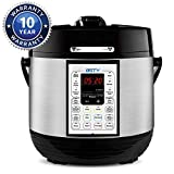 BSTY Premium 6 Quart Pressure Cooker with 13-in-1 Cook Modes Including Slow Cooker and Manual Electric Pressure Cooker | Stainless Steel