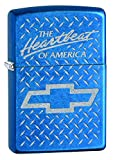 Zippo Lighter: Chevy, The Hearybeat of America, Engraved - Cerulean