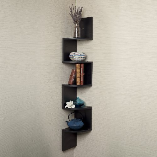 Review 5 X Large Corner Wall Mount Shelf-Black Laminate By Danya B. by Danya B