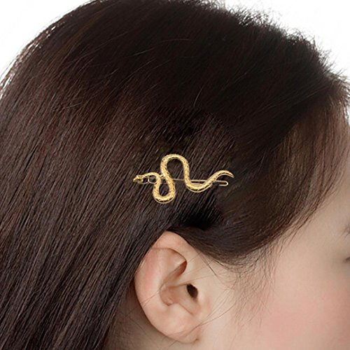 Snake Clip (Botrong Beauty Serpent S Clip Hair Accessories Alloy geometry Woman Minimalist Side Clip (Snake Shape))