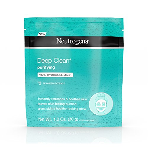 Neutrogena Deep Clean Purifying Hydrating Hydrogel Mask,1.0 Ounce Each (12 pack)
