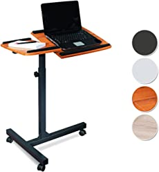 SixBros. Laptoptisch Projektionstisch Teak/Schwarz - LT-001A/53
