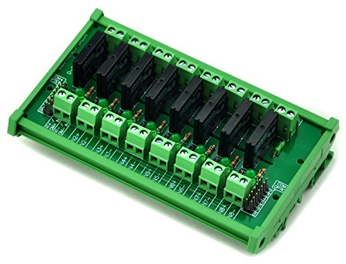 ELECTRONICS-SALON DIN Rail Mount 8 Channel SSR/Solid State Relay Interface Module, AC100~240V/2A.