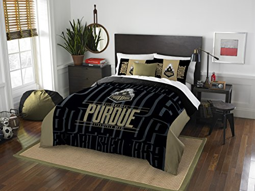 The Northwest Company Officially Licensed NCAA Purdue Boilermakers Modern Take Full/Queen Comforter and 2 Sham Set