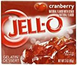 Jell-O Gelatin Dessert, Cranberry, 3-Ounce Boxes (Pack of 24)