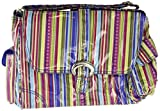Kalencom Laminated Buckle Bag, Cobalt Stripes