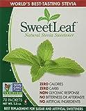 Sweetleaf Stevia 70 Piece Sweetener Packets (Pack of 2)