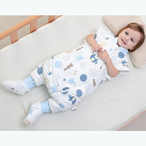 YINGER Saco de dormir para bebés Invierno Más grueso Algodón Con una cubierta para los pies Tres colores: Amazon.es: Deportes y aire libre