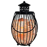 Himalayan Glow Lantern Himalayan Salt lamp, 12 inch, Table lamp, with Dimmer Switch by WBM
