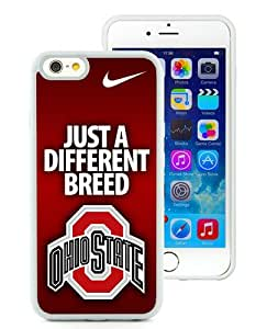 Ncaa Big Ten Conference Football Ohio State Buckeyes 5 White Best Buy Customized Design iPhone 6 4.7 Inch Silicone TPU Case