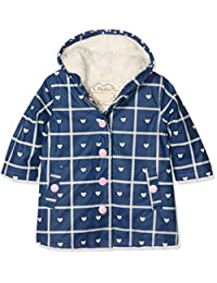 Hatley Kids Splash Jacket - Navy Plaid With Hearts