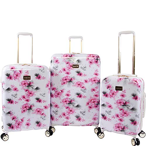 cute pink flowers pattern suitcases