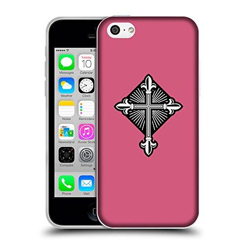 GoGoMobile Coque de Protection TPU Silicone Case pour // Q08010614 Christian Cross 26 Rougir // Apple iPhone 5C