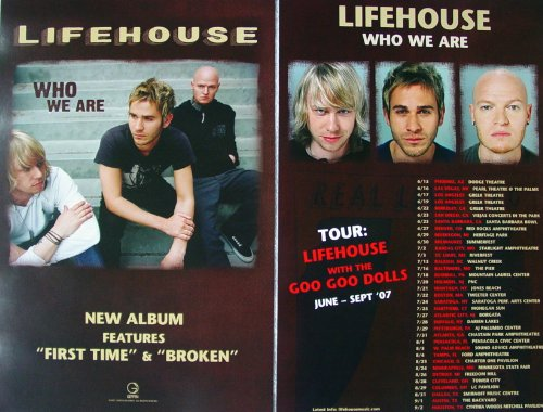 LIFEHOUSE - WHO WE ARE 11x17 DOUBLE SIDED WITH TOUR DATES POSTER P127A ()