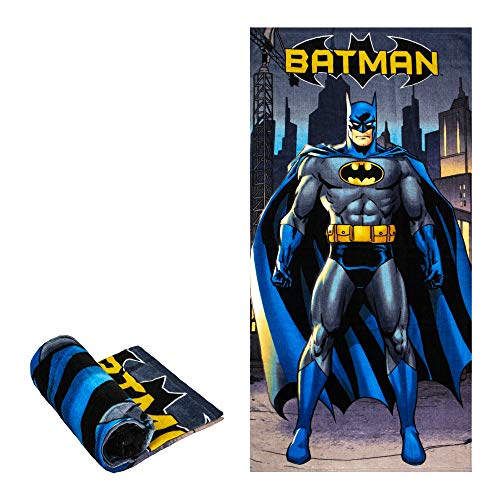 Batman In City Beach/Pool/Bath Towel, Super Soft & Absorbent & Quick Dry, Fade Resistant Cotton Towel, Extra Large Size 58 x 28, Best for Vacation, Camping, Swimming, Backpacking