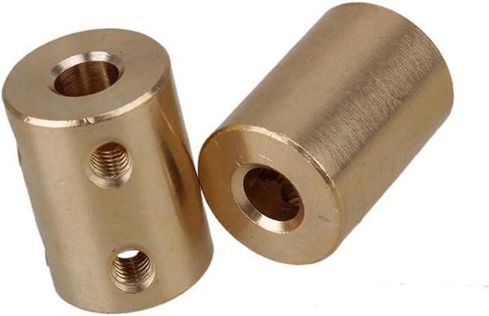 Lot de 2/Golden 6/x 6/mm CNC Moteur Coupleur en laiton Tige rigide Raccord coupleur connecteur moteur avec Serrer Vis et cl/é Allen