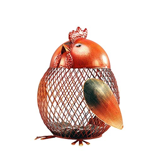 (Qkefegfkgr Creative Zodiac Cartoon Cute Chicken Iron Savings Piggy Bank, Chicken Shape Piggy Bank Cute Fashion, Study Room, TV Cabinet Crafts Decoration, Dots Your Lovely Home (Color : -, Size : -))