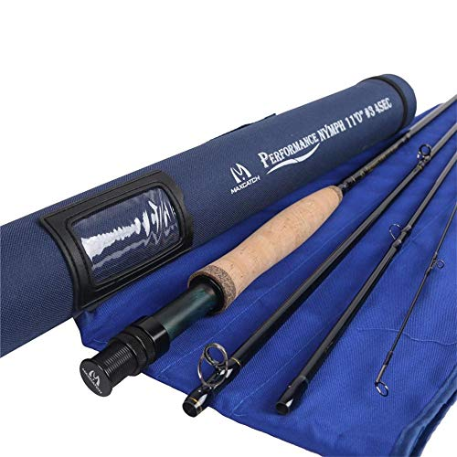 (M MAXIMUMCATCH Maxcatch Performance Nymph Fly Fishing Rod in 3/4wt: 10ft, IM10 Carbon, AAA Cork Handle, Cordura Rod Tube (3weight 11ft)
