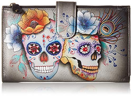 - Anna by Anuschka Wallet and Smartphone Case | Genuine Leather | Calaveras de Azucar